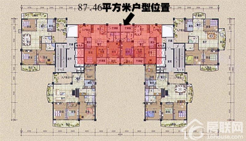 碧海云天 | 户型图(qzxf.66house.com)
