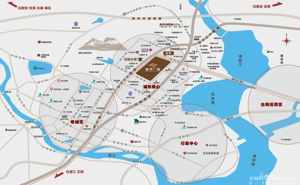 华侨大学手绘地图