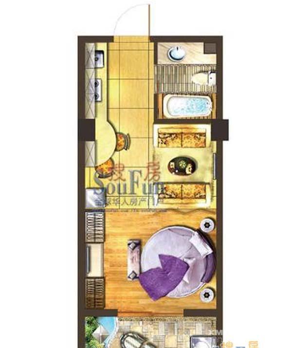 福州市学生街旁边的单身公寓图片