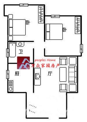 东北朝向 面积装修 : 74 平,居家 可直接 室内格局 : 户型非常方正