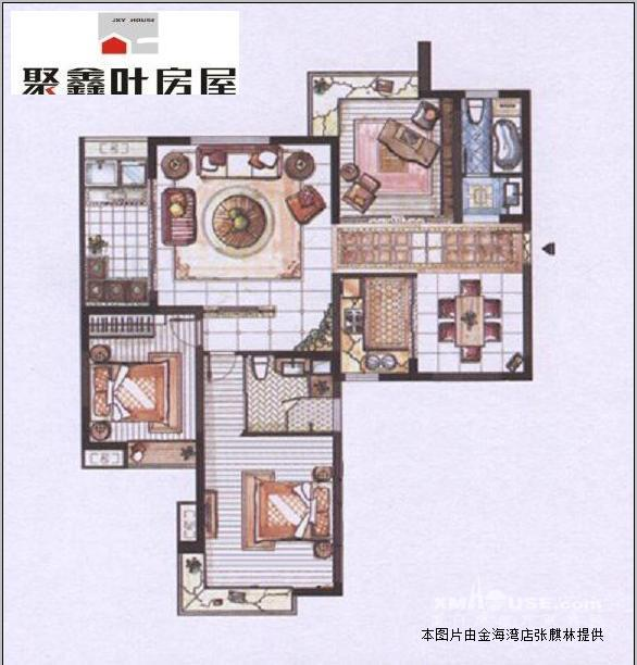 带钥匙头三间二层半房屋设计图