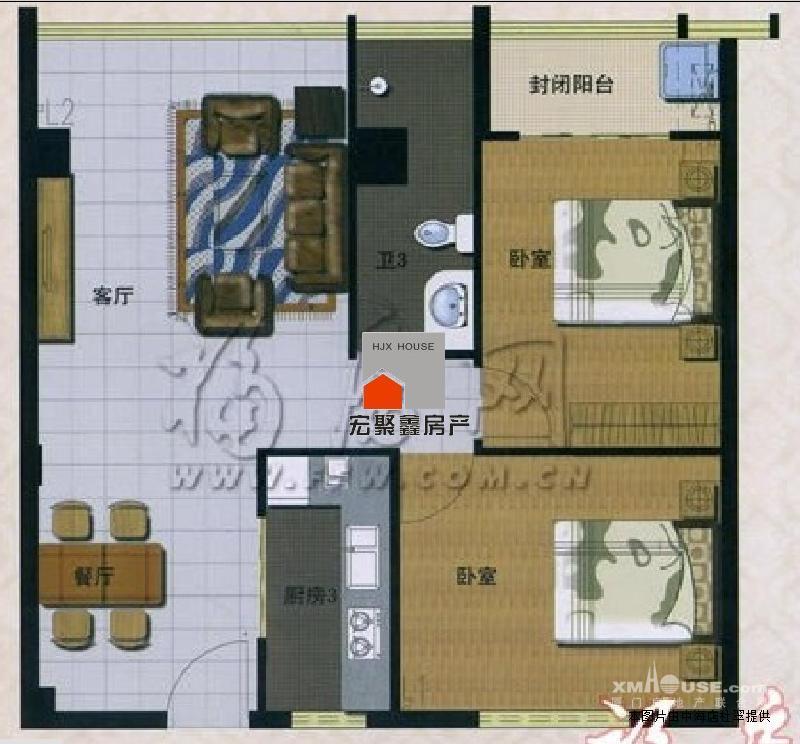 房屋用途:住宅 所在楼层: 第6层/共16层  户型布局:2房2厅1卫1阳台