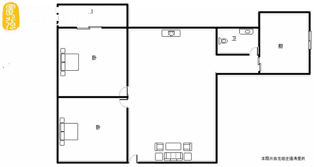 金鸡亭总价最低两房 换房急售128万