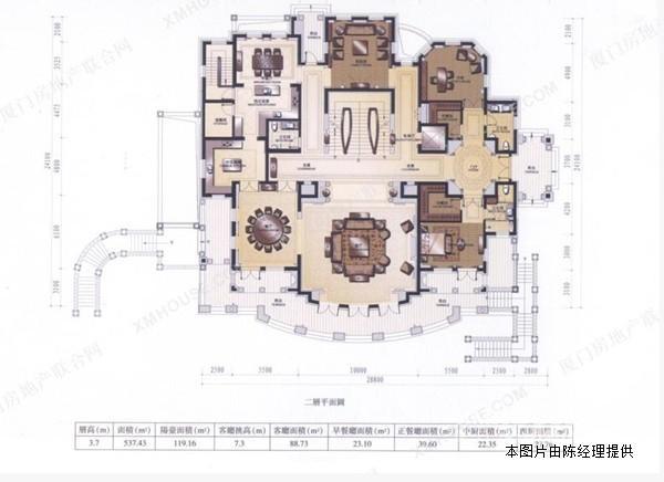 欧式方形庄园平面图