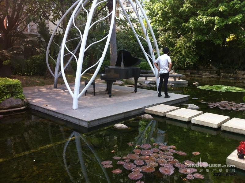 露台鱼池假山设计图片