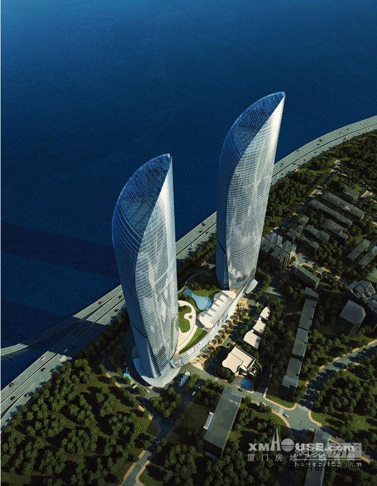 世茂海峡大厦·天玺思明区厦大国际会议中心(在建)北侧,演武大桥