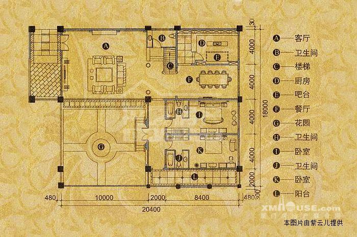 西式快餐厅手绘平面图