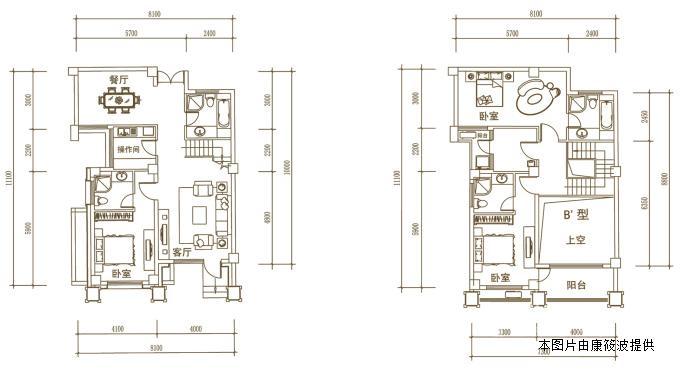 高层楼房天井结构图