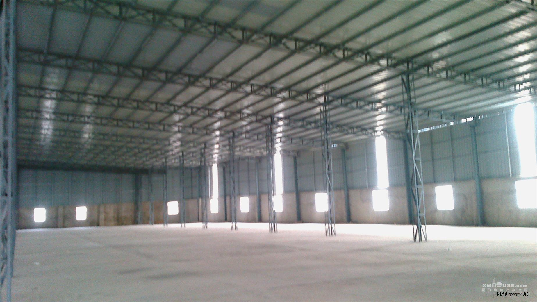 厦门北站附近3000平钢结构仓库出租层高9米