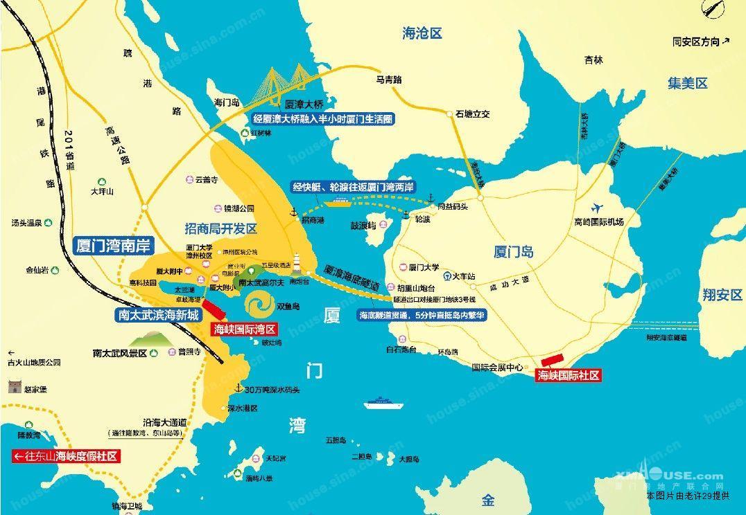 规划有厦漳海底隧道,厦门地铁三号线驳接口.