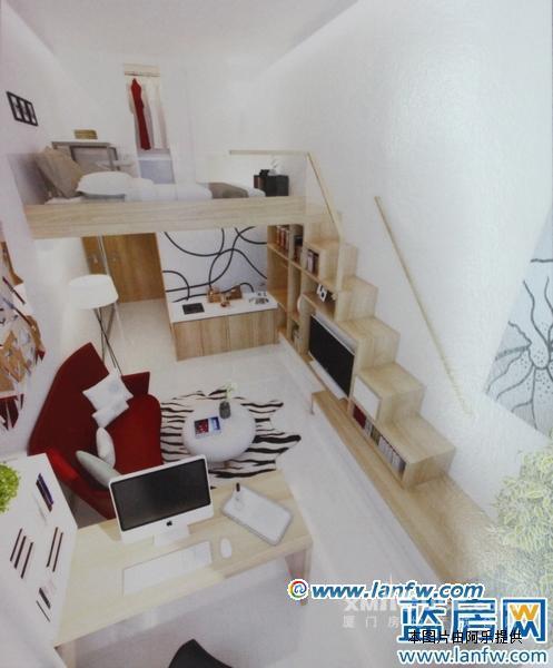 mini复式精品楼中楼 精装单身公寓 brt繁华地段 办公自