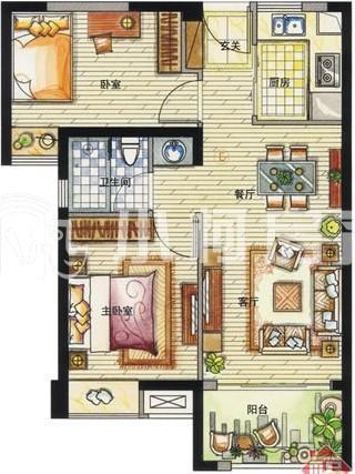 家电手绘平面图