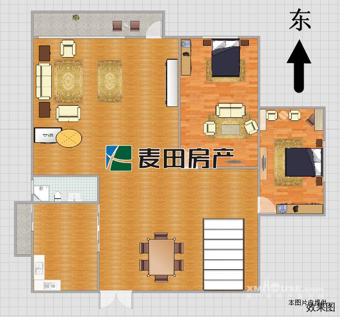 80平方房屋公寓设计图