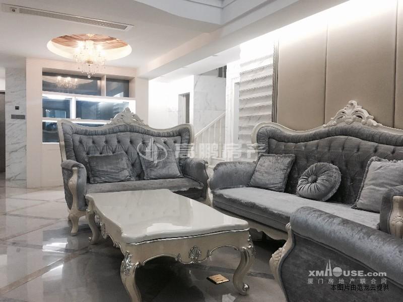 滨北市政府旁世纪海湾楼中楼 婚房装修 欧式风格 带露台