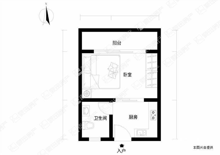 小户型单身公寓朝南 采光好 满两年