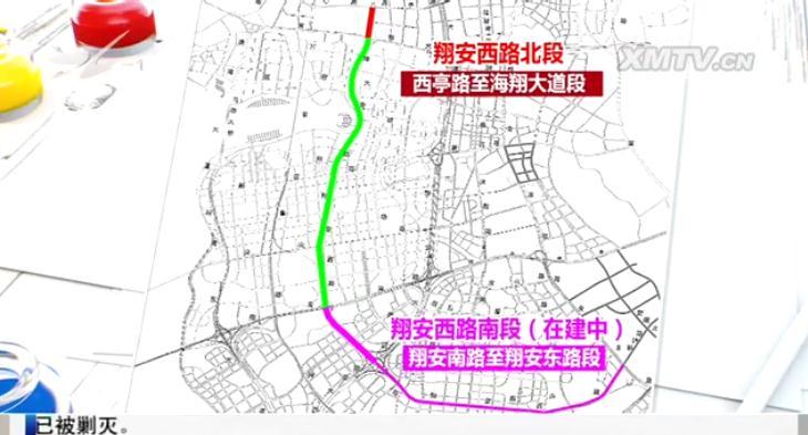 翔安西路南段预计下月底全线通车