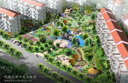 中式园林景观平面图 中式别墅庭院平面图 中式茶楼平面图