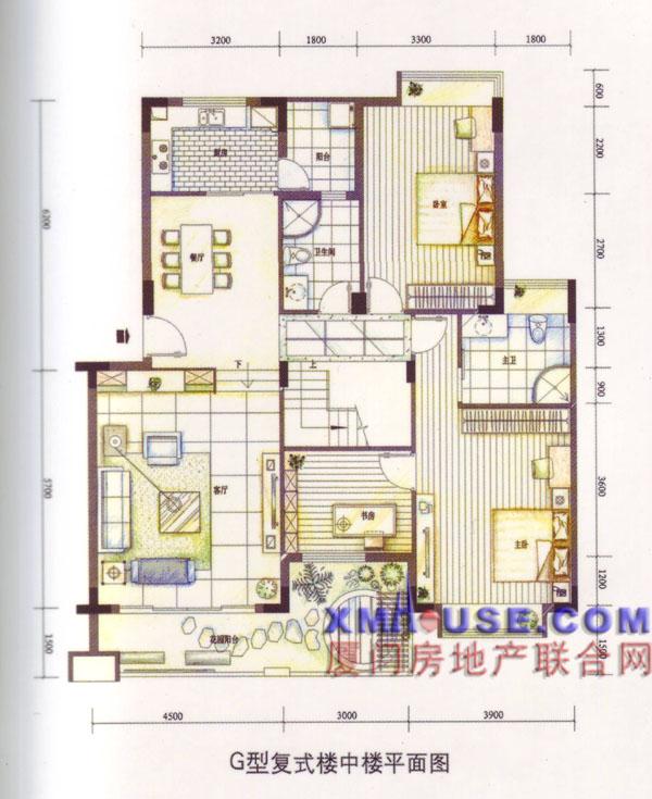 g型复式楼中楼平面图; 楼中楼别墅平面图自建房楼中楼平面图楼中楼小